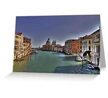 Canal Grande - View from Accademia Bridge - Venice Greeting Card