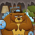 Grumpy Bear, Pesky Birds by Sean Celaya