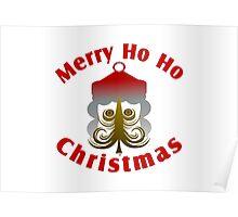 Merry Ho Ho Christmas Poster