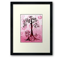Whimsical Tree And Hidden Heart Framed Print