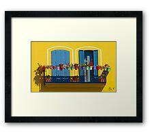 L'allegro balcone Framed Print