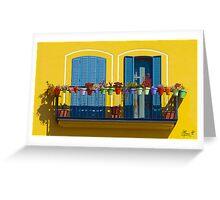L'allegro balcone Greeting Card