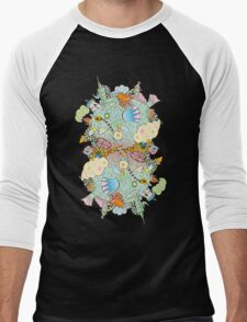 Puffer Puffing On A Water Pipe Men's Baseball ¾ T-Shirt