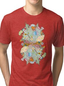 Puffer Puffing On A Water Pipe Tri-blend T-Shirt