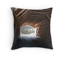 Inside Covered Bridge Throw Pillow
