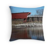 Covered Bridges of Madison County Throw Pillow