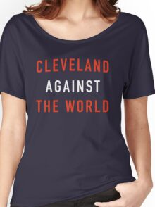 Cleveland Against the World - Browns Colors Women's Relaxed Fit T-Shirt