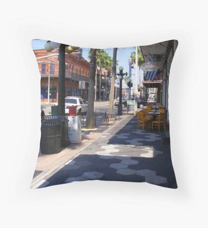Ybor City Street Throw Pillow