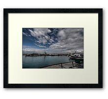 Navi al porto Framed Print