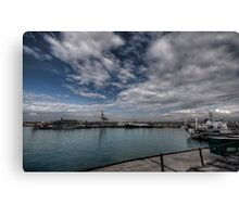 Navi al porto Canvas Print