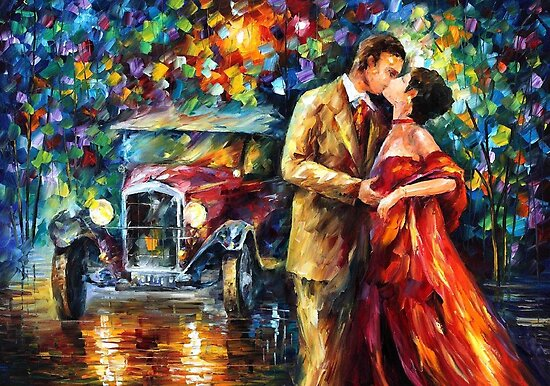 1920 - original oil painting on canvas by Leonid Afremov by Leonid  Afremov