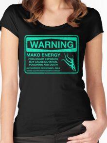 Warning: Mako Energy Women's Fitted Scoop T-Shirt