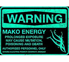 Warning: Mako Energy Photographic Print