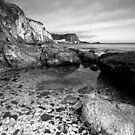 B & W of White Park bay  by Fred Taylor