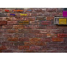 Writing on the Wall Photographic Print