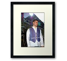 The Flax Mill...A Waistcoat and Shirt Framed Print