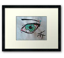 Spotted Eye Framed Print