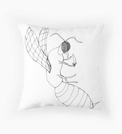killer bee Throw Pillow