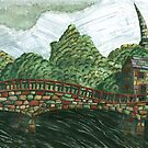166 - MORPETH BRIDGE - 01 - DAVE EDWARDS - WATERCOLOUR & COLOURED PENCIL - 2007 by BLYTHART