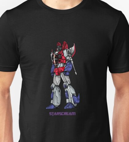 Starscream With Title Unisex T-Shirt