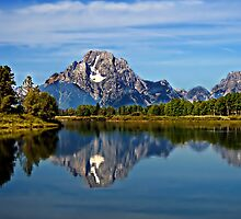 Oxbow Bend at Grand Teton by haybales