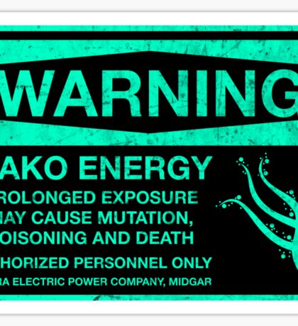 Sticker! Warning: Mako Energy Sticker