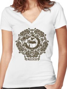 Robbery tee Women's Fitted V-Neck T-Shirt