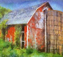 Old Red Barn by Linda Miller Gesualdo