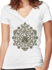 Ask, Seek, Knock Tee Women's Fitted V-Neck T-Shirt