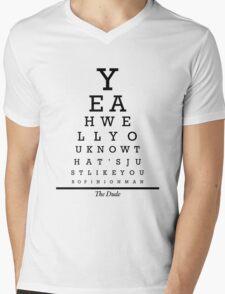 The Big Lebowski Eye Chart Mens V-Neck T-Shirt