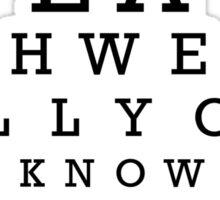 The Big Lebowski Eye Chart Sticker
