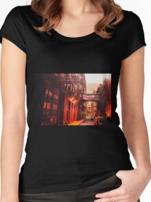 New York City Street Women's Fitted Scoop T-Shirt
