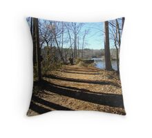 Wooded Lane Throw Pillow