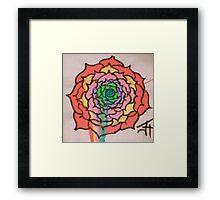 Melting Rainbow Rose Framed Print