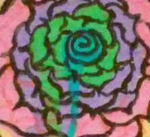 Melting Rainbow Rose Sticker
