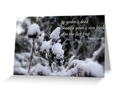 my garden is dead Greeting Card
