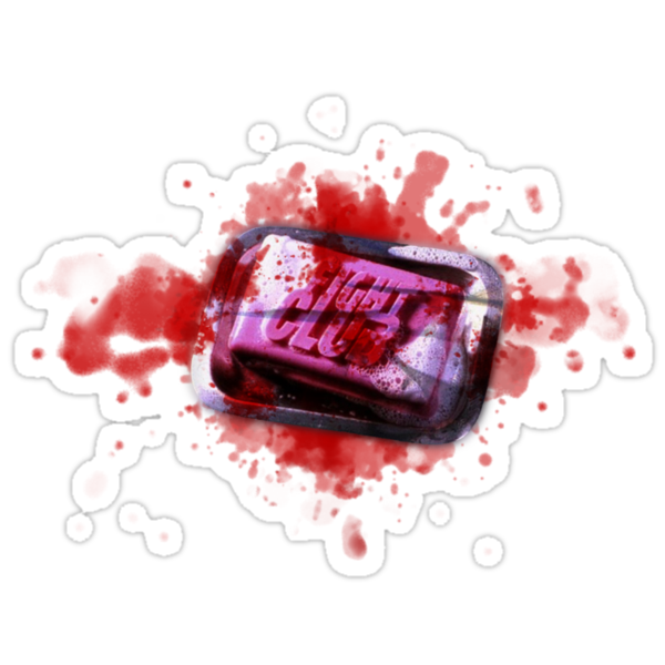 Fight Club Soap with Blood by Guilherme Bermêo