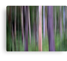 Purple Forest Impression Canvas Print