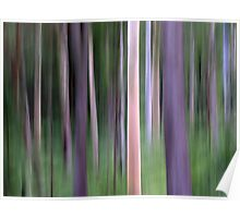 Purple Forest Impression Poster