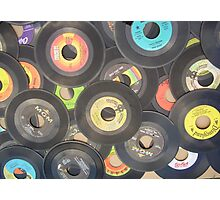 oldies rock n roll records-45's Photographic Print
