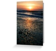 Another boring Sea Sunset Greeting Card