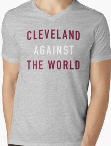 Cleveland Against the World - Cavs Yellow Mens V-Neck T-Shirt