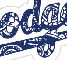 Dodgers Doodle Logo Sticker