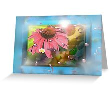 Flower shadowbox Greeting Card
