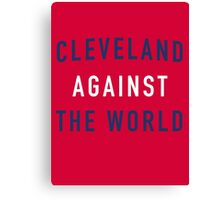 Cleveland Against the World - Indians Red Canvas Print