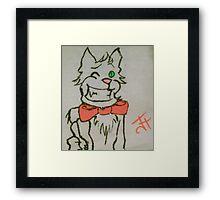 Winking Cat Framed Print