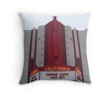 Fox Theater, Salinas, CA Marquis Throw Pillow