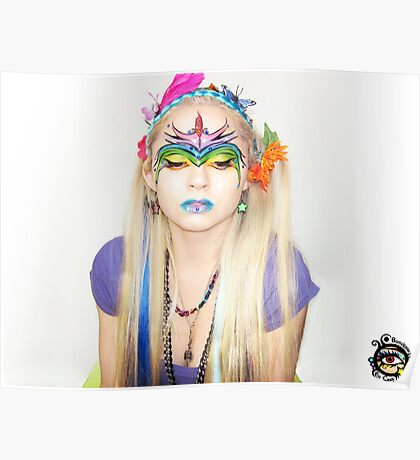 Bow Down to Your Rainbow Queen - Self Portrait Poster