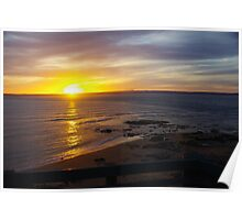 Golden Evening Phillip Island Victoria Australia Poster