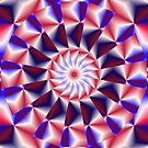 Patriotic Pinwheel Abstract by Charldia
